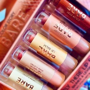"""💋 COLORSTORY """"BARE"""" Barely There Lip Balms 💋"""